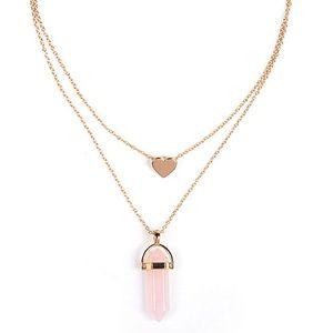 Jewelry - Lovely rose quartz pendant
